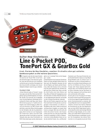 Sound & Recording Line 6 Pocket POD, TonePort GX & GearBox Gold