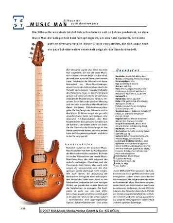 Gitarre & Bass Music Man Silhouette 20th Anniversary, E-Gitarre