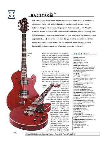 Gitarre & Bass Hagstrom Swede, E-Gitarre