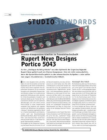 Sound & Recording Studiostandards - Rupert Neve Designs Portico 5043