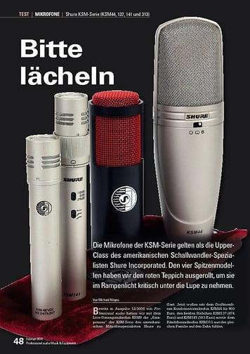 Professional Audio Bitte lächeln: Shure KSM44, 137, 141 und 313