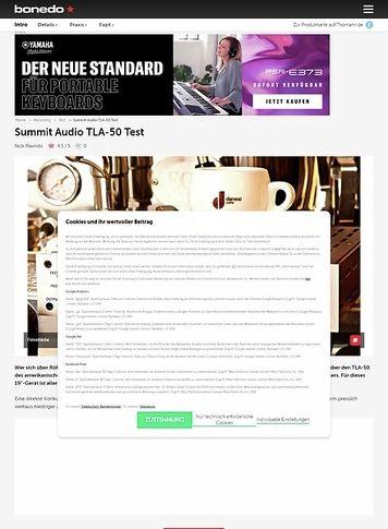 Bonedo.de Summit Audio TLA-50 Tube Leveler