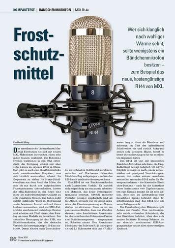 Professional Audio Frostschutzmittel: MXL R144