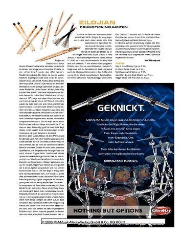 Sticks Zildjian Drumstick-Neuheiten 2006