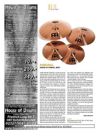 Sticks Meinl MCS Cymbal-Set