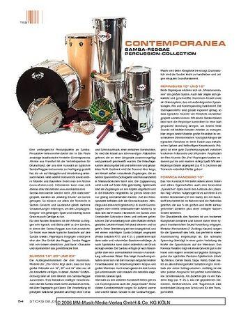 Sticks Contemporanea Samba-Reggae Percussion-Collection