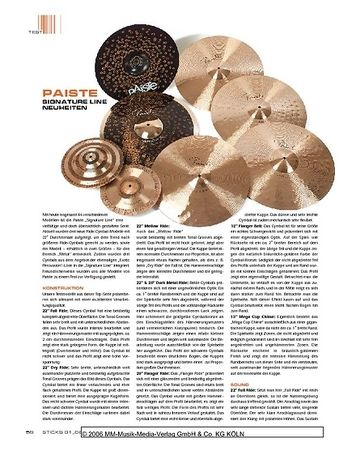 Sticks Paiste Signature Line Cymbals
