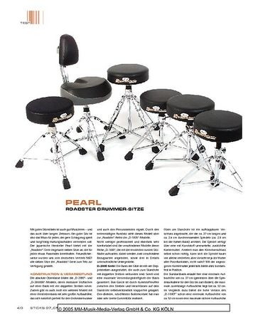 Sticks Pearl Roadster Drummer-Sitze