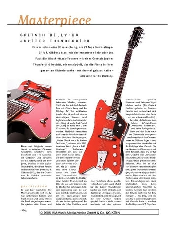 Gitarre & Bass Masterpiece: Gretsch Gretsch G6199 Billy-Bo Jupiter Thunderbird