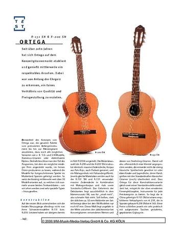 Gitarre & Bass Ortega R-131 SN & R-200 SN, Konzertgitarren