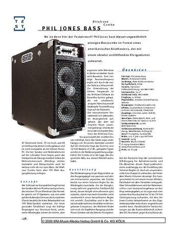 Gitarre & Bass Phil Jones Bass Briefcase Combo, Bass-Kofferverstärker