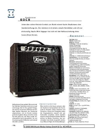 Gitarre & Bass Koch Studiotone, Gitarren-Combo