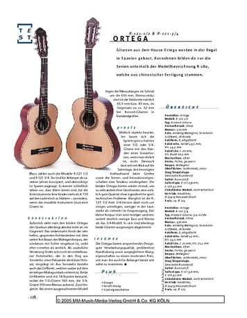 Gitarre & Bass Ortega R-121-1/2 & -3/4, Konzertgitarren