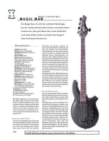 Gitarre & Bass Music Man Bongo 5 Stealth, Fünfsaiter-E-Bass