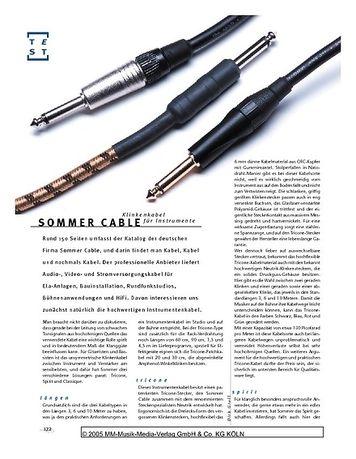 Gitarre & Bass Sommer Cable, Klinkenkabel für Instrumente