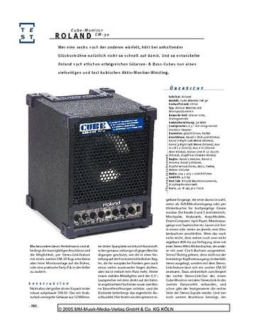 Gitarre & Bass Roland Cube Monitor, Aktiv-Monitor mit Mixer
