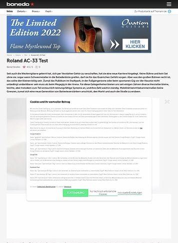 Bonedo.de Roland AC-33 Acoustic-Combo