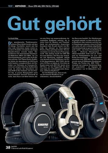 Professional Audio Shure SRH 440, SRH 750 DJ, SRH 840