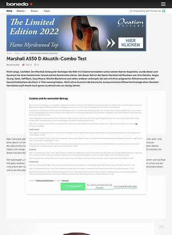 Bonedo.de Marshall AS50 D - Akustik-Combo