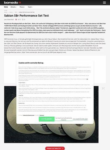 Bonedo.de Sabian SBR Performance Set