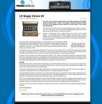 MusicRadar.com LR Baggs Venue DI