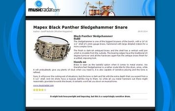 MusicRadar.com Mapex Black Panther Sledgehammer Snare