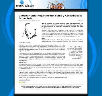 MusicRadar.com Gibraltar Ultra-Adjust Hi-Hat Stand / Catapult Bass Drum Pedal