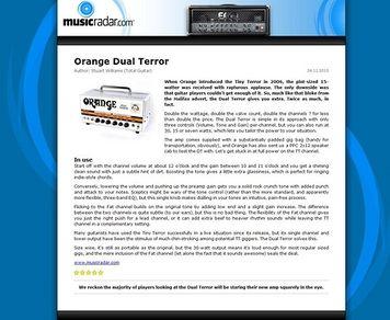 MusicRadar.com Orange Dual Terror
