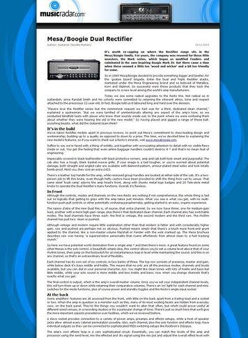 Mesa Boogie Dual Rectifier Reborn – Thomann UK