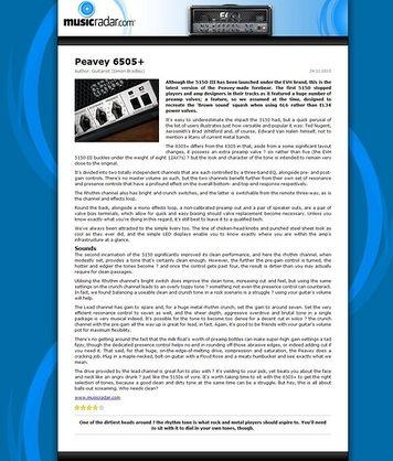 MusicRadar.com Peavey 6505+