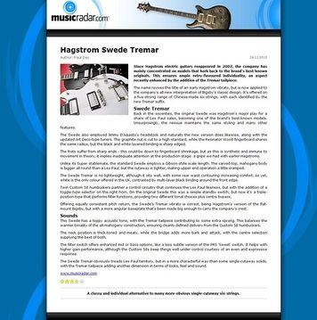 MusicRadar.com Hagstrom Swede Tremar