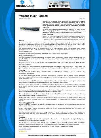 MusicRadar.com Yamaha Motif-Rack XS