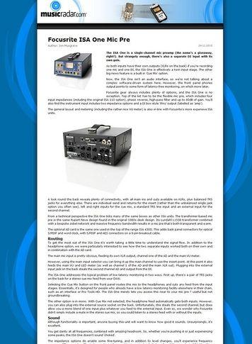 Focusrite ISA One Analog – Thomann UK
