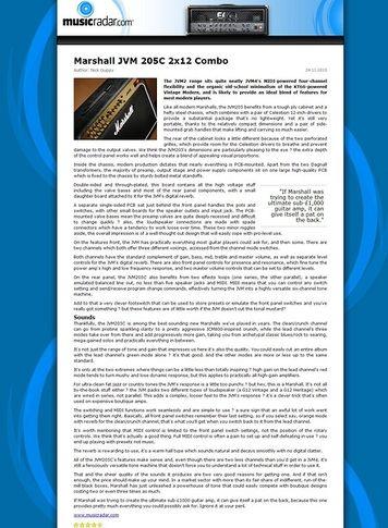 MusicRadar.com Marshall JVM 205C 2x12 Combo