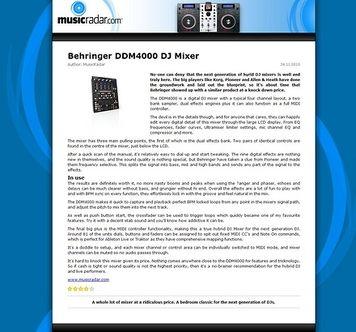 MusicRadar.com Behringer DDM4000 DJ Mixer