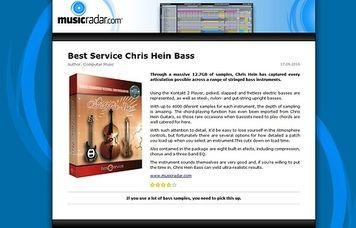 MusicRadar.com Best Service Chris Hein Bass