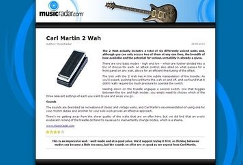 MusicRadar.com Carl Martin 2 Wah