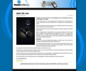 MusicRadar.com AKG D5 mic
