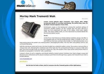 MusicRadar.com Morley Mark Tremonti Wah