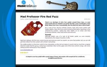 MusicRadar.com Mad Professor Fire Red Fuzz