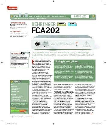 Computer Music BEHRINGER FCA202