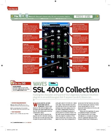 Computer Music WAVES SSL 4000 Collection
