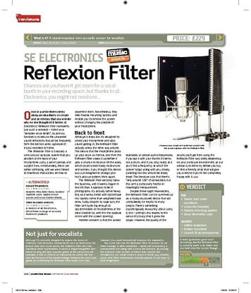 Computer Music SE ELECTRONICS Reflexion Filter