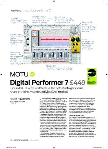 Computer Music Digital Performer 7