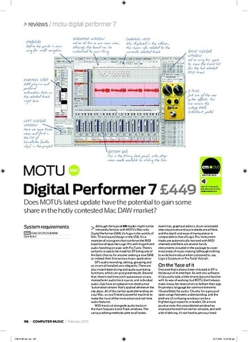 Computer Music Digital Performer 7