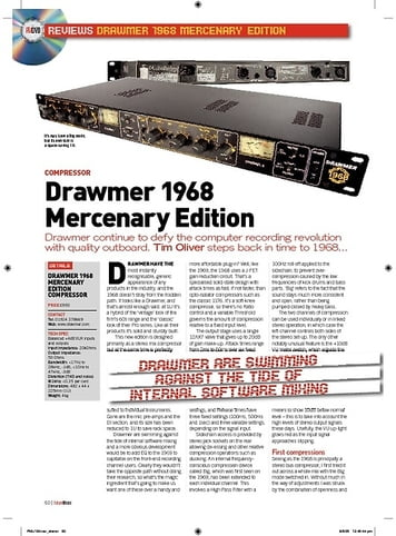 Future Music Drawmer 1968 Mercenary Edition