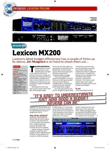 Future Music Lexicon MX200