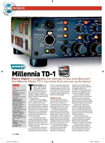 Future Music Millennia TD1
