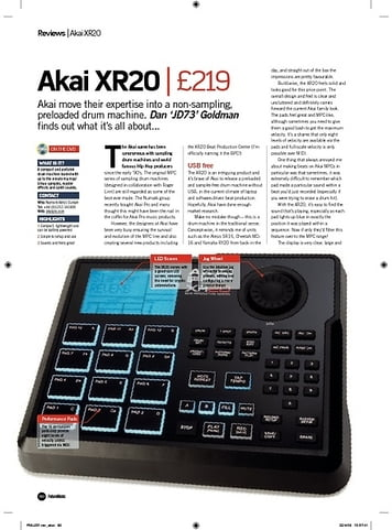 Future Music Akai XR20