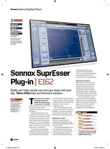 Future Music Sonnox SuprEsser